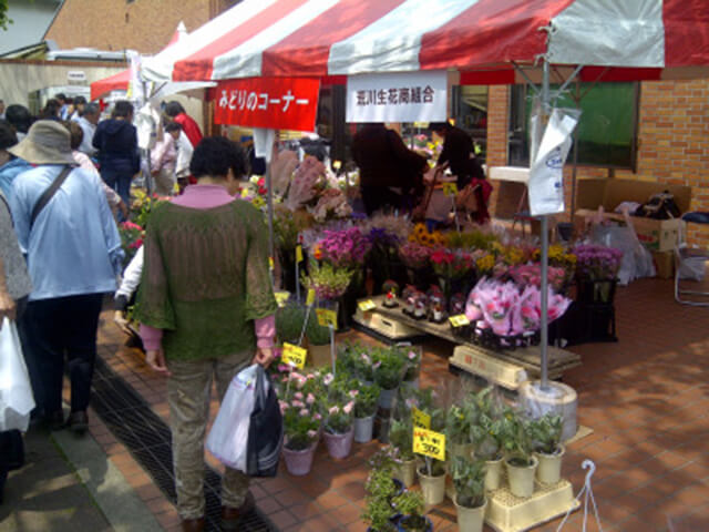生花販売の様子