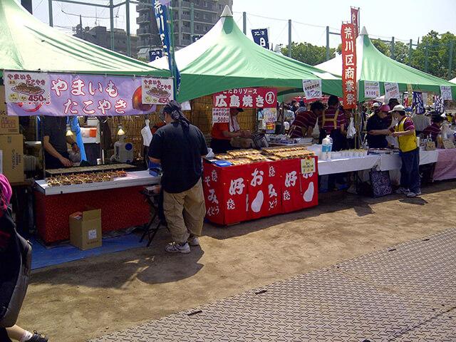 荒川商業祭「模擬店」「バザール」の様子