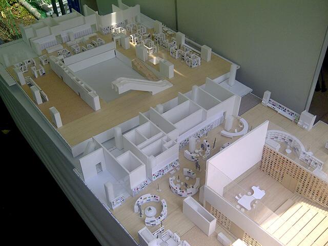 複合施設の模型