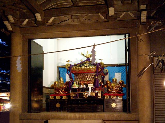 神輿庫の本社神輿